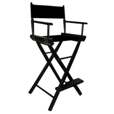 All Black Tall Directors Chair Del Rey Party Rentals