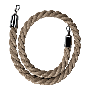 Hemp Stanchion Rope Del Rey Party Rentals