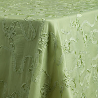 Kiwi Taffeta Splendor Del Rey Party Rentals