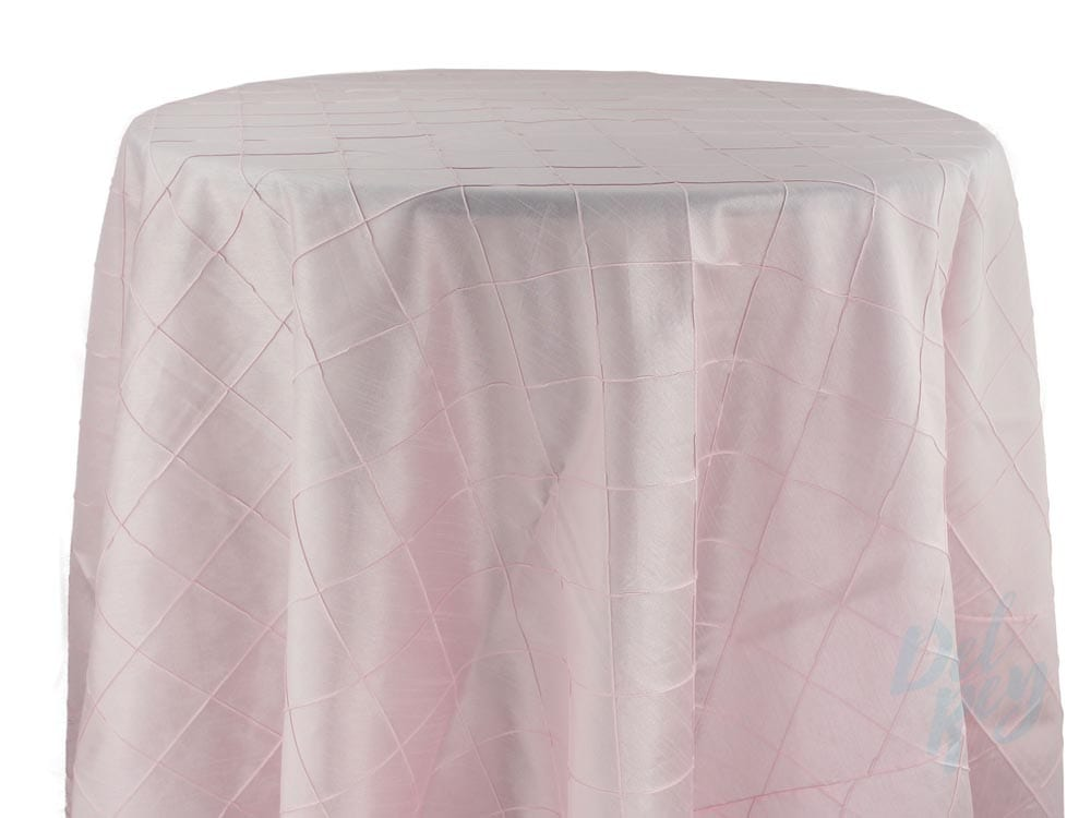 TABLE LINEN PINTUCK PASTEL- Party Rentals