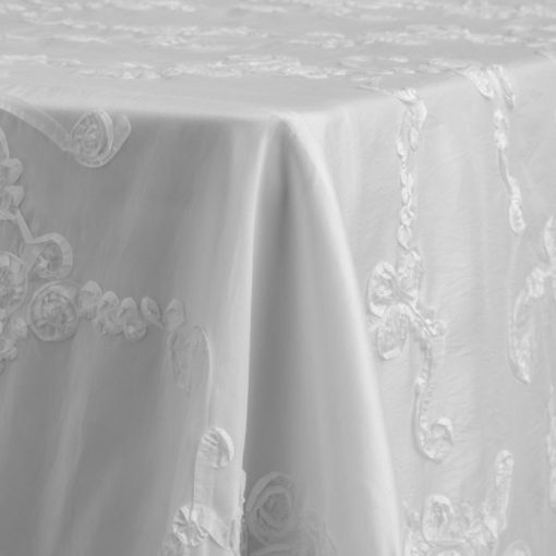 White Taffeta Splendor Del Rey Party Rentals